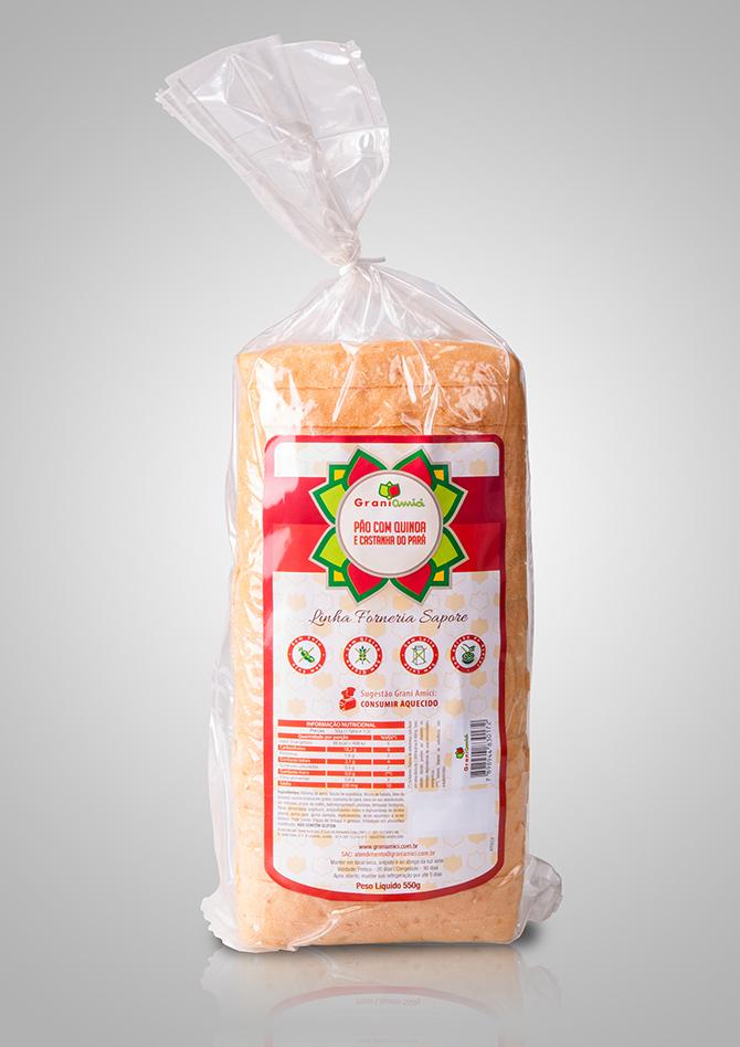 Pão de Castanha do Pará com Quinoa