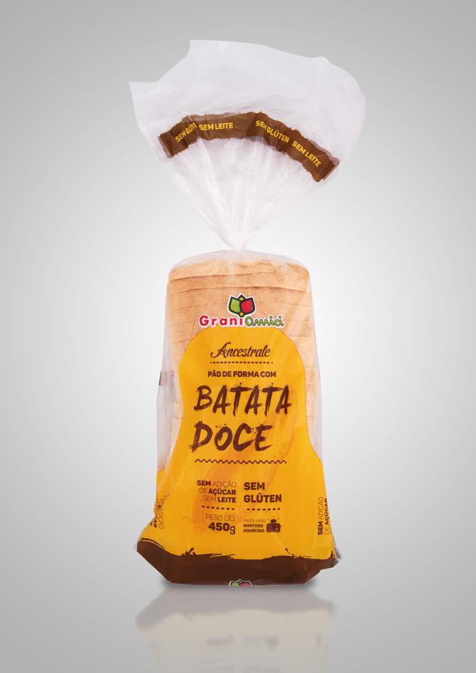 Linha Ancestrale – Pão de forma com Batata Doce